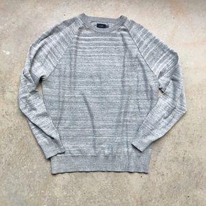 Mens J. Crew space dye raglan crew sweater Medium